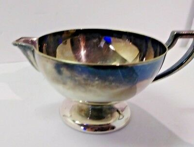 vintage Empire Silver co ESC Sheffield Plate sauce gravy boat