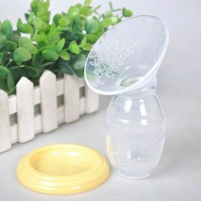 Silicone Breast Pump Manual Breastfeeding Leakproof Milk Collector Suction US