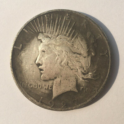 White Brass 1927 S Peace Dollar Low Mintage Coin Collection Foreign Vintage Coin