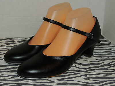 Capezio The Dancemaker Women's Black Leather Mary Jane Tele Tone Tap Dance Shoes