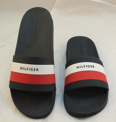ea321e6f57b NIB TOMMY HILFIGER Earthy Dark Blue Slide Sandals Men s Size 12 RETAIL  39