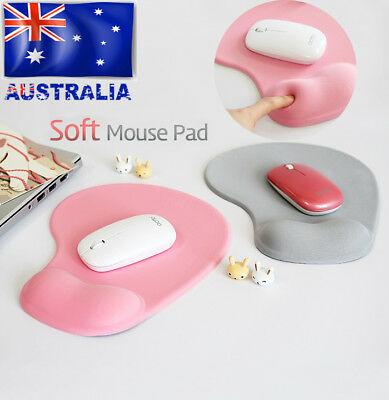 Soft Gel Mouse Mat Pad With Rest Wrist Comfort Support Laptop PC Anti Slip New