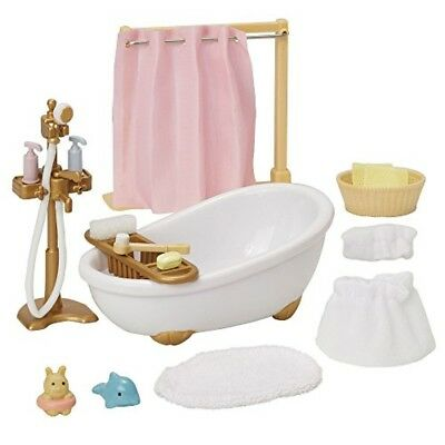 SYLVANIAN FAMILIES CALICO Critters Deluxe Bathroom Set - Calico critters bathroom