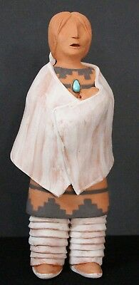 Navajo Mother and Child by Mary Mitchell-Trejo Navajo Original Clay Sculpture