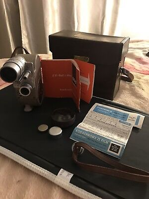 Bell & Howell 605 Double Run Eight Cina Camera Taylor Taylor & Hobson Lens +Case