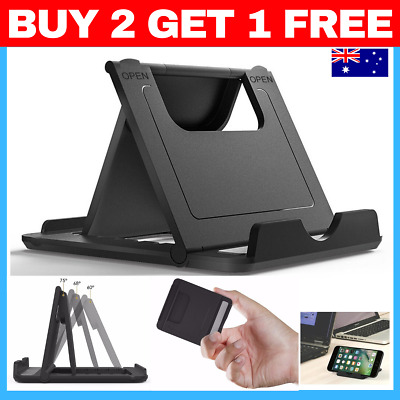 BLACK Foldable 360° Universal Desk Mount Cradle Holder Stand  Phone iPad Tablet
