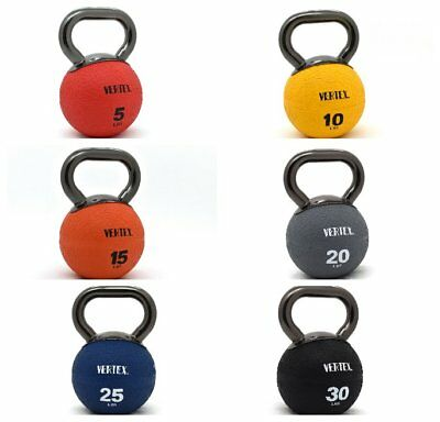 Kettlebell w/ Metal Handle Medicine Rubber Ball Fitness Elite VERTEX