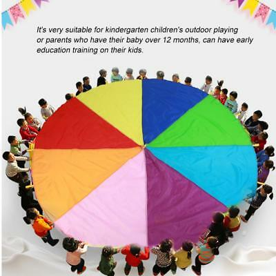 Game Toy Rainbow Parachute For Kids Development Exercise Activity Sports AM