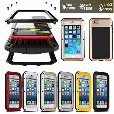 HEAVY DUTY Shockproof Waterproof Bumper Aluminum Metal Cover Case Lot iPhon@LO
