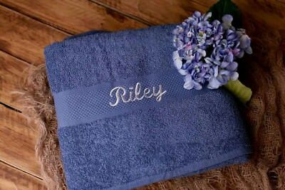 Personalised Brand New High Quality Cotton Bath Towels.  (Your name embroidered)
