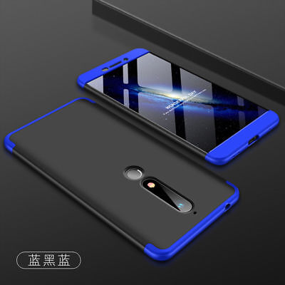 For Nokia 6 2018 / 7 Plus Full Coverage Hybrid Shockproof Armor Hard Case Cover