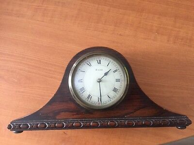 Vintage Wooden Mantel Clock 8 Day French