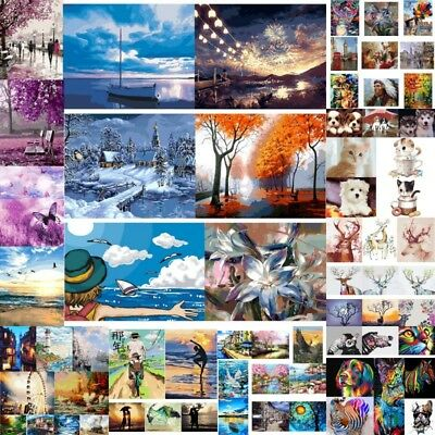 78 Style Digital Oil Painting DIY Kit Paint By Number Wall Canvas Home Art Decor