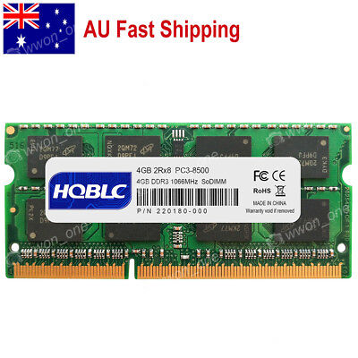 AU 4GB 8GB 16GB DDR3 PC3-8500 DDR3-1066Mhz 204Pin Sodimm Laptop Memory RAM