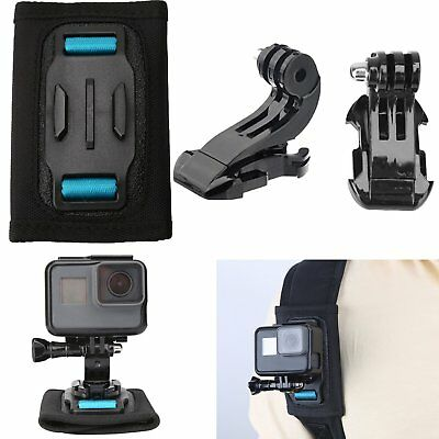 Backpack Strap Mount& J-Hook Buckle for GoPro Hero 6 5 4 3 Xiaomi Yi Camera