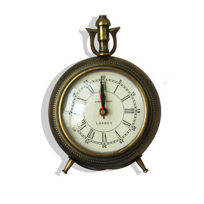Maritime Brass Table Clock Vintage Nautical Office Desktop Tool Retro Clock Gift