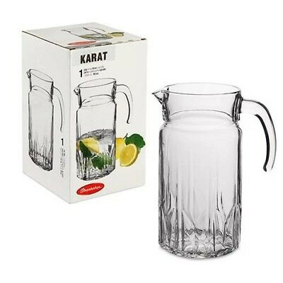 Glass Water Juice Decanter 1,5L Pitcher Jug Cocktail Wine Milk Fridge Carafe New