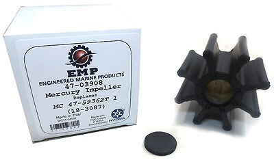 MerCruiser Water Pump Impeller, Bravo, Replaces 47-59362T1, Sierra 18-3087 - EMP