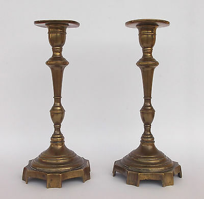 Antique 19Th Century Pair Of Candle Holders