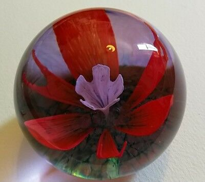 Caithness 'Solitaire' Glass 1984 Collectors Paperweight - (See Description)
