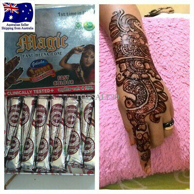 Golecha Brown Color Instant Henna Cones Temporary Tattoo Body Art Mehandi Ink
