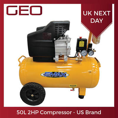 50L 2HP EMAX Workshop Compressor - UK Seller FREE Next Day Delivery or Collect