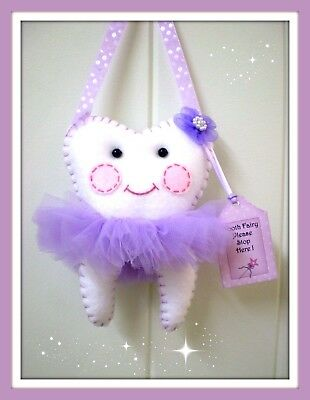 Tooth Fairy Pillow- Handmade- Pretty Purple Ribbon