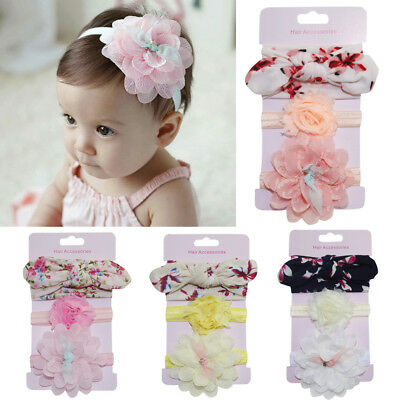 3Pcs Infant Kids Cute Headband Hair Girl baby Bowknot Accessories Hairband Set