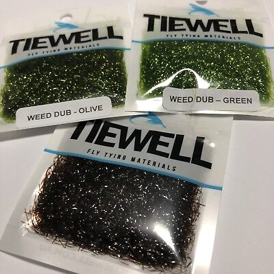 3 X Weed Dub Fly Tying Material For Luderick Weed Flies