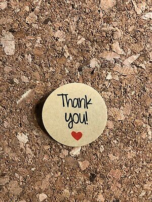 Thank You Stickers Self-adhesive Kraft Label Sticker DIY Party Gift Tags