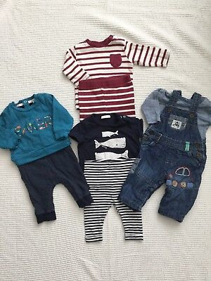 Next & Ted Baker Baby Boys 0-3 Months Bundle Outfits, Dungarees, Leggings,romper