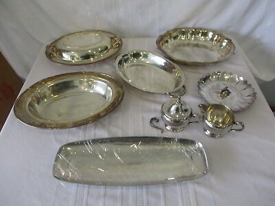 Mixed Lot of Silver Plated Serving Pieces, Chippendale, Wm Rogers, Reed & Barton