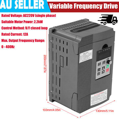 2.2Kw 3Hp 10A 220Vac Single Phase Variable Frequency Drive Inverter Vsd Vfd Au