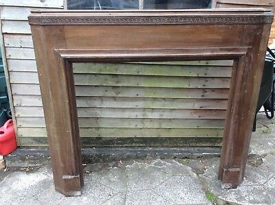 Original vintage solid wood fire surround