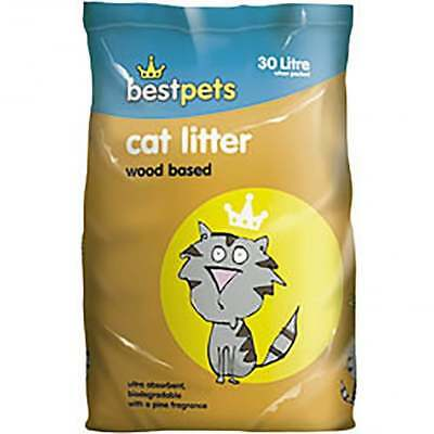 Best Pets Wood Litter 30 Litre Cat Litter Biodegradable With Pine Fragrance 20kg