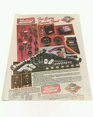 Vintage print Ad - 1984  MALLORY IGNITION For Every Engine Need & Erson Apparel