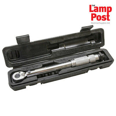 "Draper 78639 Torque Wrench 1/4"" Square Drive with Micrometer & Case 5-25Nm"