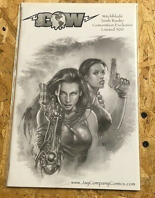 Witchblade Tomb Raider 1E,1 of 500,2002 Comic Con,COA,FREE SHIPPING