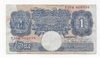 Great Britain 1 Pound 1940 P 367 Free Shipping