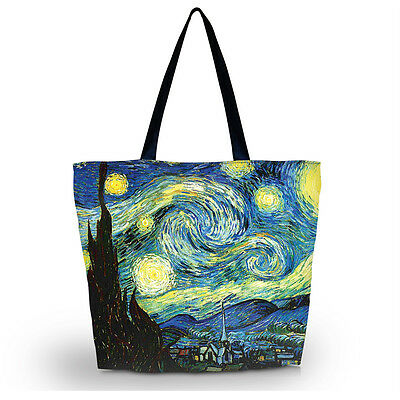 Starry Night Women Lady Travel Shopping Bag Shoulder Tote Handbag Folding Bags