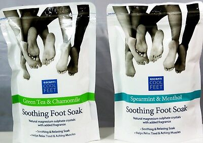 ESCENTI Soothing Foot Soak Cool Feet Green Tea & Chamomile  Spearmint & Menthol