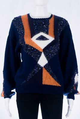 True Vintage Pullover M 38 40 knitted Jumper Sweater 80s 90s