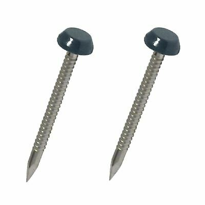 50 x 30mm Grey UPVC Poly Top Pins Plastic Headed Polytop Nails Stainless Steel