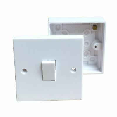 Single Wall Switch & Back Box Pattress. 1 Gang 2 Way Switched  Electrical