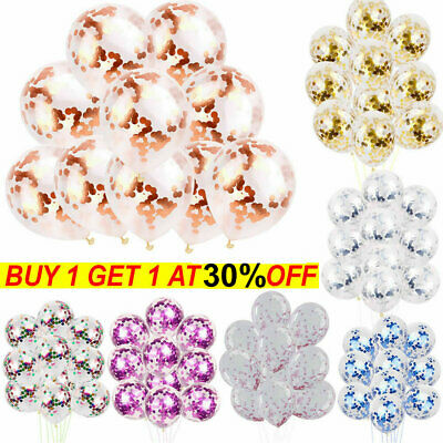 10pcs Foil Latex Confetti Balloons Helium Wedding Birthday Baby Shower Hen Party