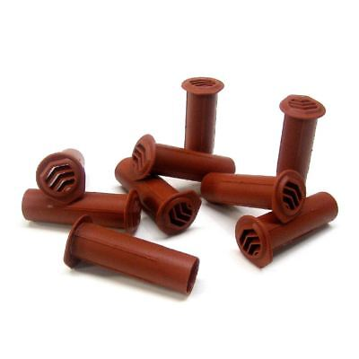 10 x Terracotta Drill Weep Vents Round Vent Cavity, Retaining, Rendered Walls