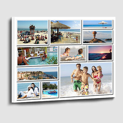 Your Personalised Photo Collage Shadow style printed on to framed Canvas print