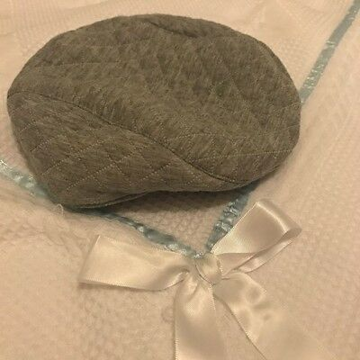 Vintage style light grey gatsby hat 0-3 months