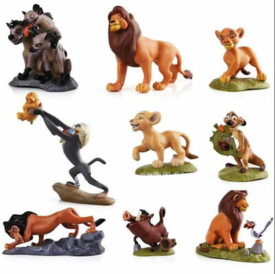 Set of 9PCS The Lion King Simba Action Figures Collection Movie Toys