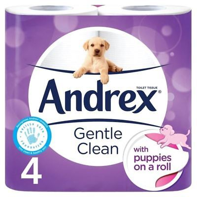Andrex Gentle Clean Toilet Tissue 4 per pack (PACK OF 2)